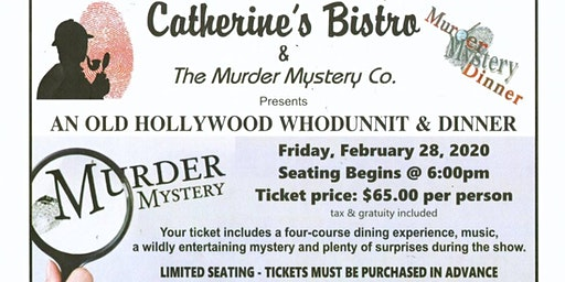 1930's Hollywood Murder Mystery Dinner
