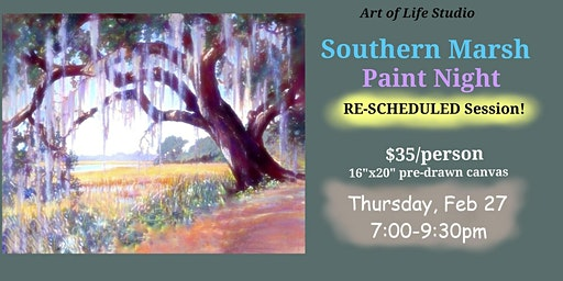 Paint Night: Southern Marsh (NEWEST SESSION)