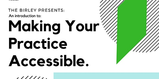 Introduction: to accessible arts practice. for artists & arts organisers