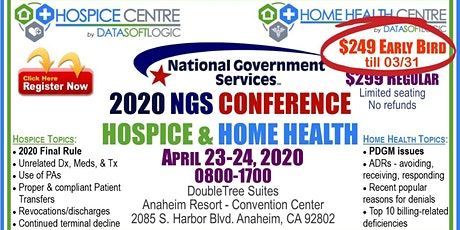 2020 NGS Hospice & Home Health Conference tickets