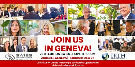 Swiss Growth Forum Winter Edition 2020 in Geneva tickets