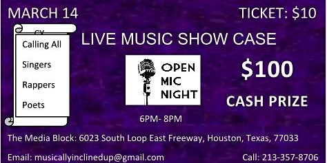 Music Show Case and Open Mic
