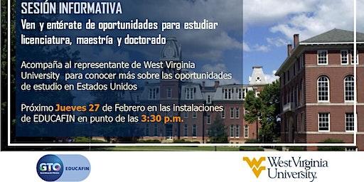 Sesión informativa EDUCAFIN/WEST VIRGINIA UNIVERSITY