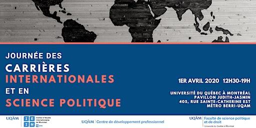 Journée des carrières internationales et en science politique