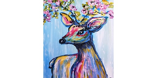 """4/1 - Corks and Canvas Event @ Bean and Vine, Everett """"Oh Deer!"""""""