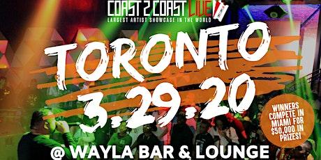 Coast 2 Coast LIVE Artist Showcase Toronto, Canada - $50K Prizes! tickets