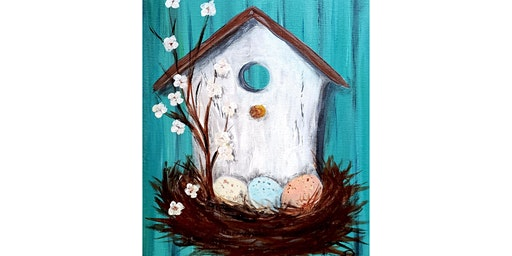 "4/2 - Corks and Canvas Event @ Finnriver Farm & Cidery, CHIMACUM ""Birdhouse in Spring"""