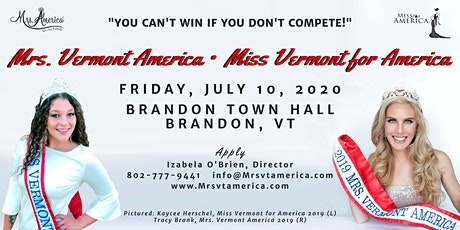 Mrs. Vermont America & Miss Vermont for America tickets