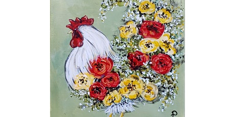 """4/3 - Corks and Canvas Event @ Eleven Winery, BAINBRIDGE """"Spring Rooster"""" tickets"""
