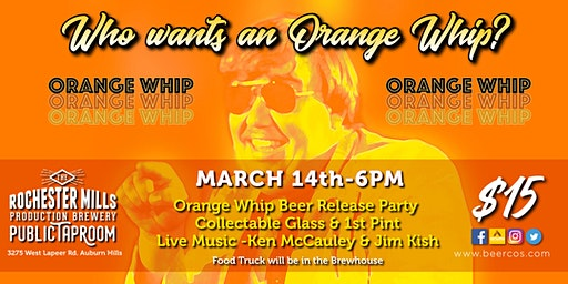 Orange Whip Beer Release 2020