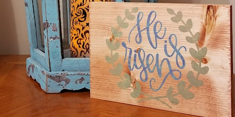 DIY Craft Easter Intro Class : Wood Sign tickets
