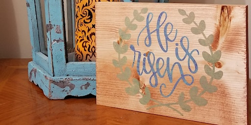 DIY Craft Easter Intro Class : Wood Sign