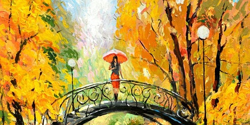 Paint Night at Croydon Park: Lady on the Bridge