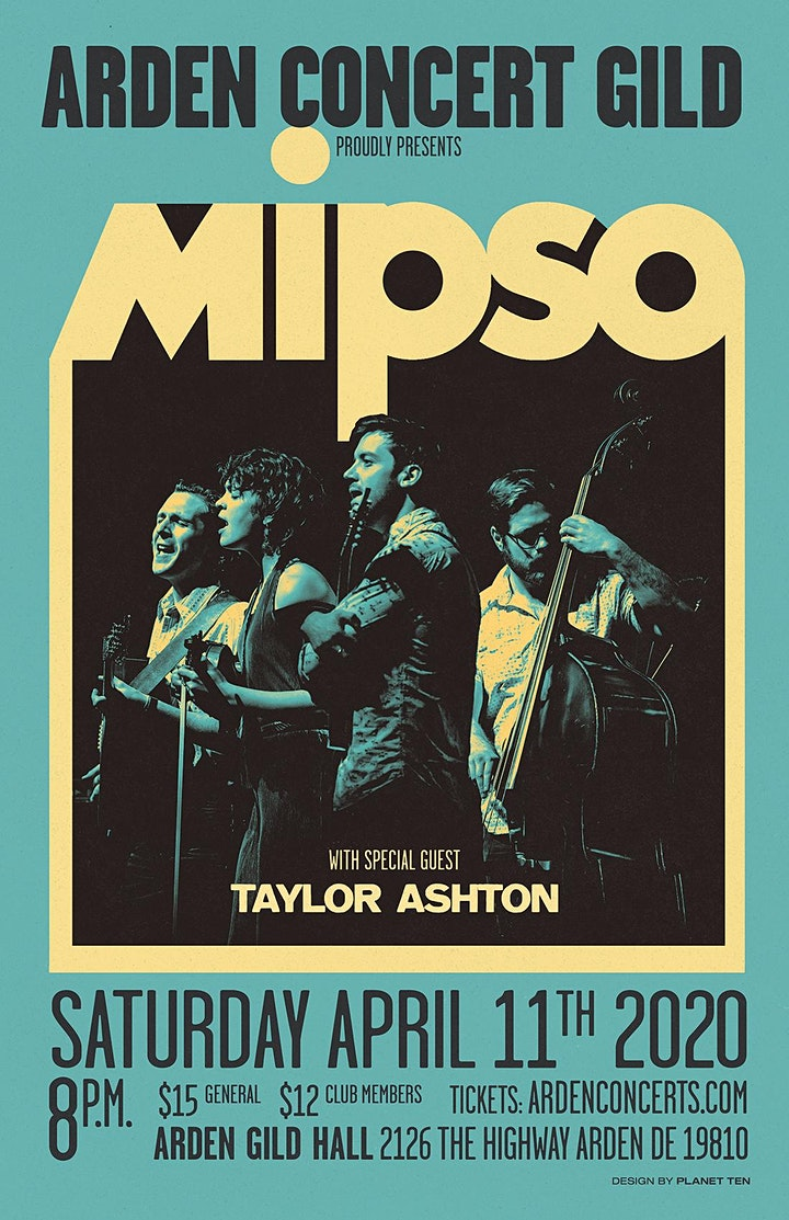 Cancelled: Mipso at Arden Gild Hall with special guest Taylor Ashton image