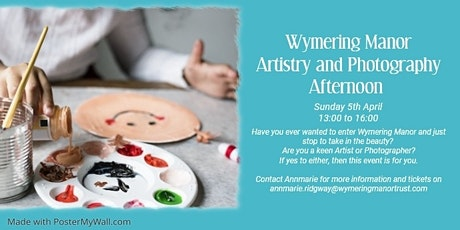 Artistry and Photography Afternoon tickets
