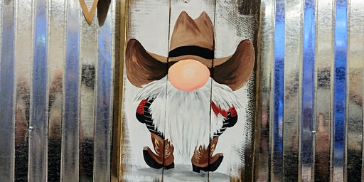 Cowboy Gnome Paint Night