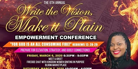 The 6th Annual Write The Vision, Make it Plain Empowerment Conference tickets