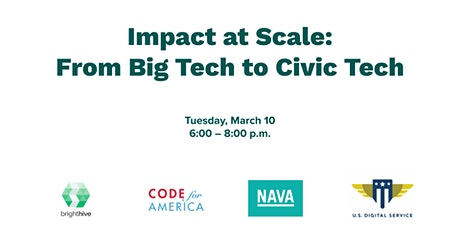 Impact at Scale: From Big Tech to Civic Tech tickets