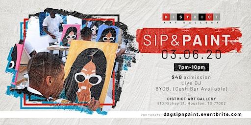 District Art Gallery - Sip & Paint Event