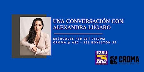 Una Conversación con Alexandra Lúgaro tickets
