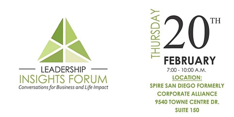 FREE Ticket to Leadership Insights Forum tickets