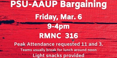 PSU-AAUP Bargaining - March 6 tickets