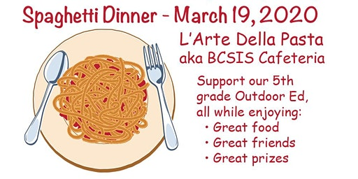 5th Grade Spaghetti Dinner