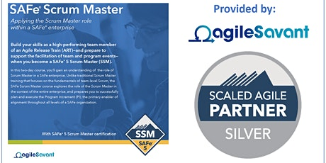 SAFe 5.0 Scrum Master w/ SSM Certification tickets