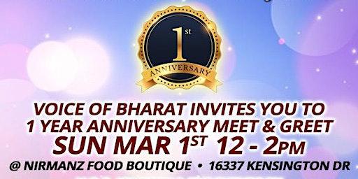 Voice of Bharat 1st Anniversary & Fund Raiser