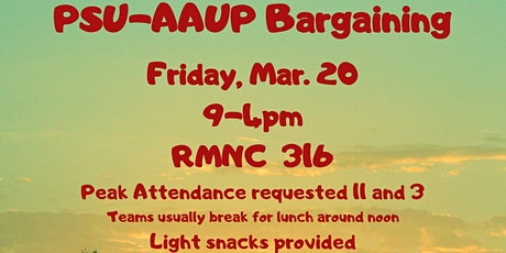 PSU-AAUP Bargaining tickets