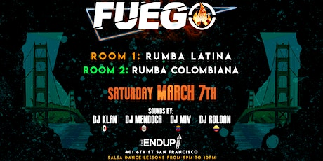 FUEGO Latin Dance Party . 2 Rooms tickets