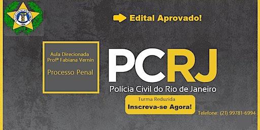 INSCRIÇÃO-  AULA PROCESSO PENAL - CARREIRA POLICIAL - PCERJ .