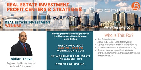 Webinar: Real Estate Investment Profit Centers and Strategies tickets