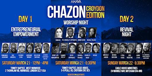 AHAVA EXPERIENCE CROYDON EDITION EE/ CHAZON / REVIVAL NIGHT
