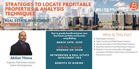 Real Estate Investment Webinar: Strategies to Locate Profitable Properties & Analysis Techniques tickets