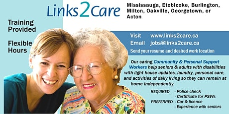 Job Fair - Links2Care - Hiring Personal and Community Support Workers tickets