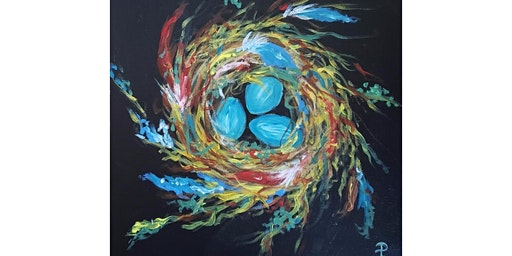 """4/8 - Corks and Canvas Event @ Sigillo Cellars, Snoqualmie """"Colorful Nest"""""""