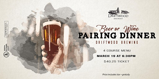 4 Course Driftwood Brewing Pairing Dinner at Townhall Langley