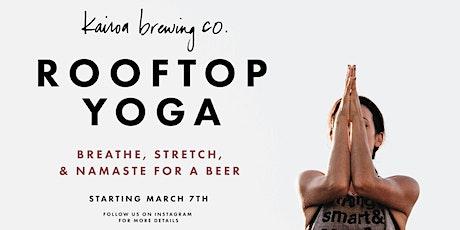 Rooftop Yoga at Kairoa tickets