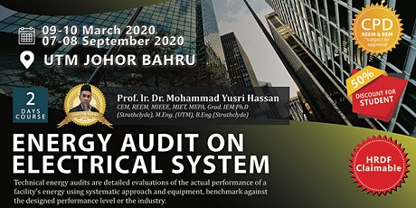 Energy Manager Series: Energy Audit on Electrical System (Open for All) tickets