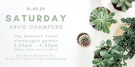 Saturday Arvo Champers tickets