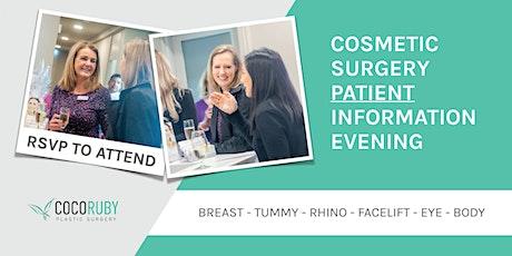 Plastic Surgery - Patient Information Evening tickets