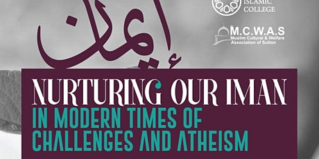Nurturing our Iman in an Era of Atheism - Evening Course tickets