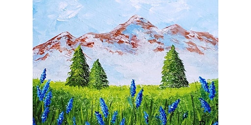 """4/15 - Corks and Canvas Event @ Nectar Catering and Events, SPOKANE """"Mountain Peak"""""""