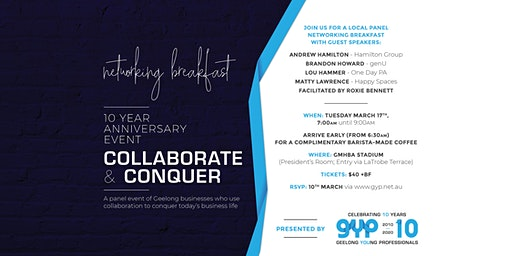 Collaborate & Conquer - Networking Breakfast with Local Panel