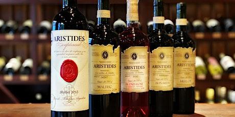 Arístides Wines. Premium tasting entradas