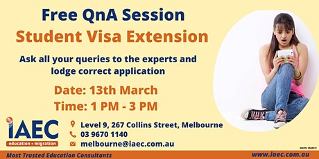 Free QnA session for Student Visa Extension tickets