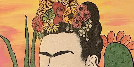 Frida Painting at Casa Azul
