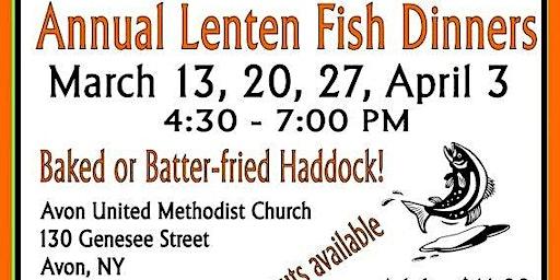 Avon UMC Annual Lenten Fish Dinners