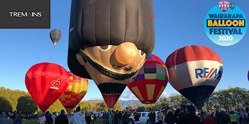 """Wairarapa Balloon Festival """"Tremain Park to Paddock Ascension"""" - Greytown"""